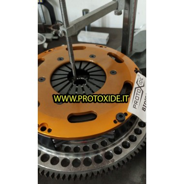 Svinghjul stål kit med to-plade kobling Fiat Coupe 20V Turbo 2000 Flywheel kit med forstærket bidisco kobling