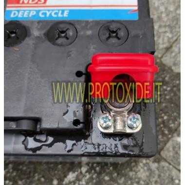Morsetto batteria a sgancio rapido polo positivo Fili e cavi elettrici