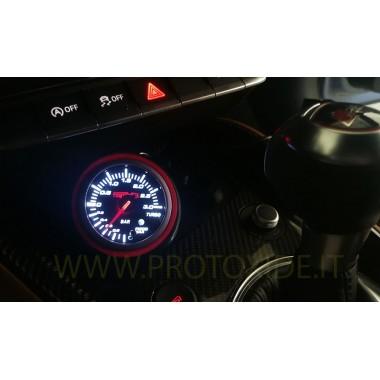 Portamanometro Audi TT- TTRS foro 60mm per manometro con anello rosso Portastrumenti Portamanometri e cornici per strumenti