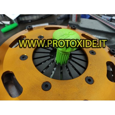 Centering shaft for dual-disc and single-disc clutches aligns ribbed hub discs Fiat Alfa Lancia 20 grooves Reinforced support...