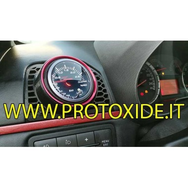 Fiat GrandePunto 圧力計ホルダー エアノズル 52mm 穴ブッシュ付き 赤いリング圧力計用 計器ホルダーと計器用フレーム
