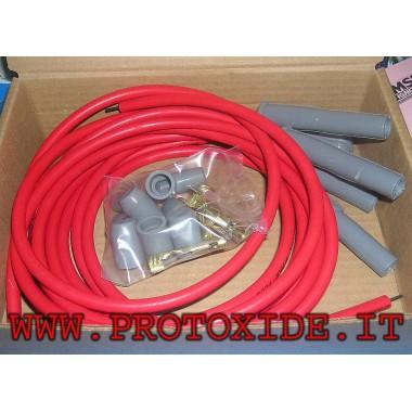 copy of Cable de bujía MSD de silicona roja o negra de alta conductividad de 8.5 mm Candle cable y bricolaje terminales