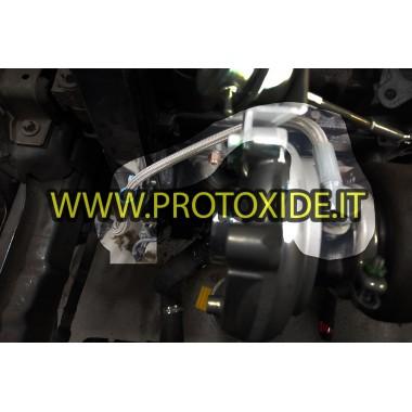 Eļļas šļūtene metāla pinumā Fiat FIRE 500-600, Lancia Y turbodzinējam ar 1100-1200 8v motoru Turbokompresoru eļļas caurules u...