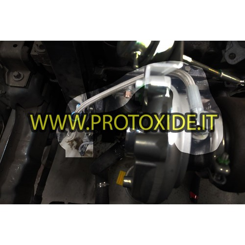 Oil hose in metal braid for Fiat FIRE 500-600, Lancia Y turbo engine with 1100-1200 8v engine Oil pipes and fittings for turb...
