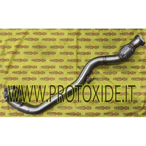 Downpipe scarico maggiorato Fiat Coupè 2000 20v Turbo GT25-GT28 -GTX28 acciaio Inox lungo Downpipe per motori turbo a benzina