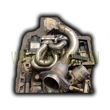مشعب عادم ميني كوبر R53 فولاذي لتحويل توربو عالي المستوى مشعبات الصلب لمحركات توربو بنزين