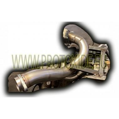 Downpipe scarico Mini cooper R53 trasformato turbo GT28 - TD04 con collettore scarico alto ProtoXide Downpipe per motori turb...