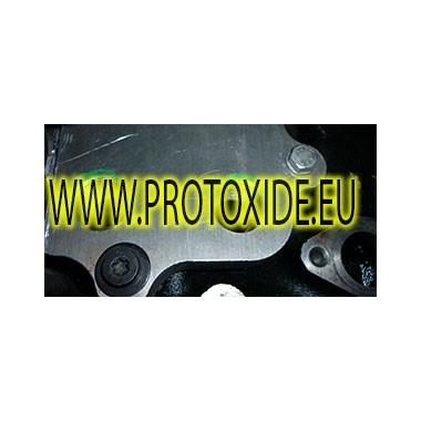 Adattatore sandwich portafiltro piastra per radiatore olio Golf 4 TSI 1400 Turbo Supporti filtro olio e accessori per radiato...