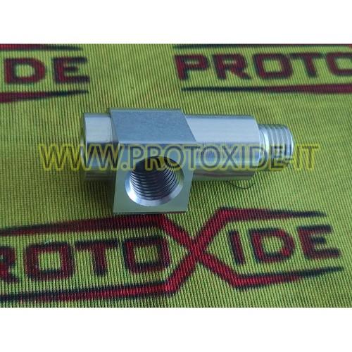 Raccordo adattatore per installazione sensore pressione e temperatura olio motori Fiat 500 Abarth Panda 100hp Manometri press...