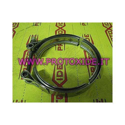 Fascetta collare V-band uscita scarico Turbocompressore Garrett G25-550 acciaio inox Fascette e anelli V-Band