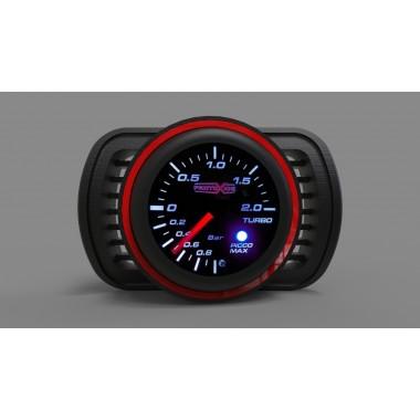 Bocchetta aria portamanometro Audi A3 S3 8L 1800 20v Turbo con boccola foro 52mm per manometro anello rosso Portastrumenti Po...