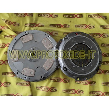 Single-mass flywheel kit with copper reinforced clutch for Peugeot Citroen DS3 Steel flywheel kit complete with reinforced cl...
