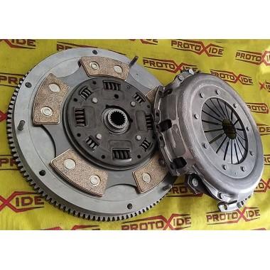 Kit Flywheel steel + copper + clutch pressure plate Fiat Punto GT Steel flywheel kit complete with reinforced clutch