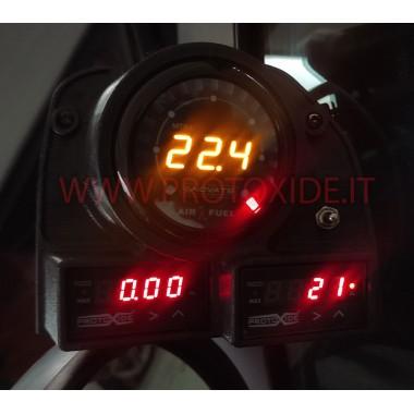 Boquilla de aire de soporte de manómetro de 3 orificios Fiat GrandePunto Portainstrumentos y marcos para instrumentos