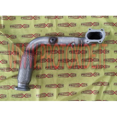 Oversized steel exhaust downpipe with flexible for Fiat Punto GT turbochargers Mitsubishi TD04 Downpipe for gasoline engine t...