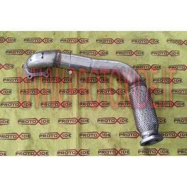 Conducte d'escapament d'acer de grans dimensions amb flexible per a turbocompressors Fiat Punto GT Mitsubishi TD04 Downpipe f...