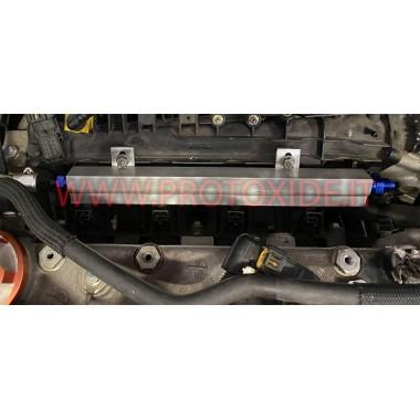 Flauto iniettori maggiorato alluminio Ergal Fiat 1.400 T-jet 500 abarth Flauti maggiorati per iniettori