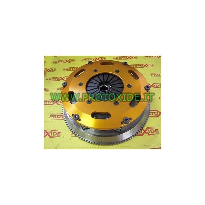 Kit Volano acciaio monomassa frizione bidisco rinforzata Fiat Grandepunto 500 1300 JTD MJET 75-90hp Kit volani acciaio con fr...