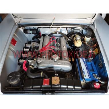 Augstas vadītspējas sarkanie Alfa Romeo Giulia 2000 sveces kabeļi Speciālie sveciņu kabeļi automašīnām