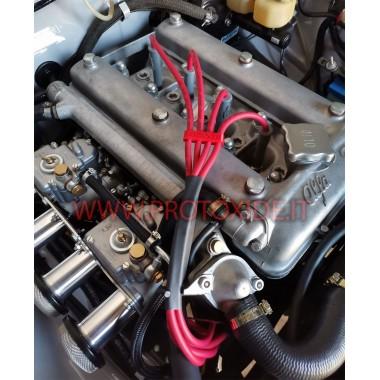 Crveni Alfa Romeo Giulia 2000 kabeli svjećica visoke vodljivosti Posebni kabeli svijeća za automobile