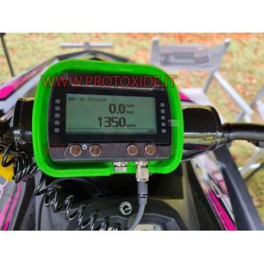 copy of لوحة أجهزة القياس الرقمية للسيارات والدراجات النارية OBD2 مع اكتساب لوحات رقمية