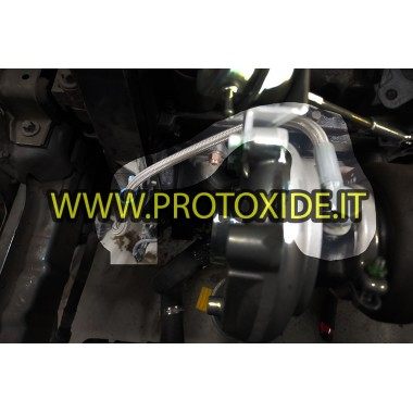 copy of Oil hose in metal sock for Fiat FIRE 500-600, Lancia Y engines transformed into turbo with 1100-1200 8v engine Oil pi...