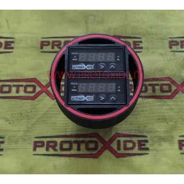 Fiat 500 Abarth manómetro de doble pantalla, temperatura de los gases de escape, AFR, presión Turbo, presión de aceite de su ...