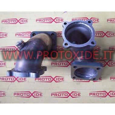Downpipe scarico Lancia Delta per Turbo Garrett GT30 acciaio inox Downpipe per motori turbo a benzina
