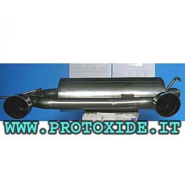 Audi TT 225 Dual rear exhaust exit 100mm Stainless Steel