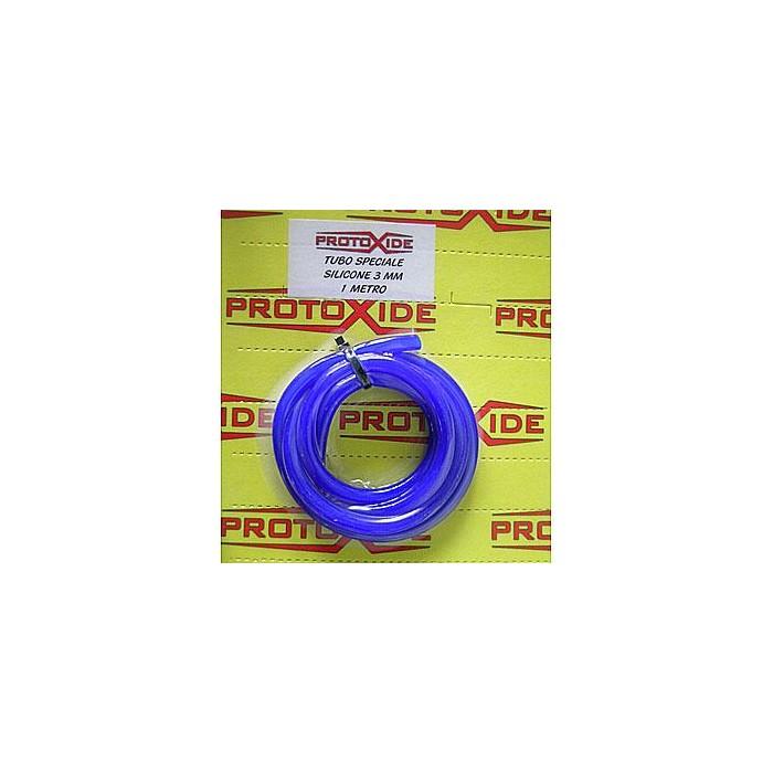 أنبوب السيليكون الأزرق 3 مم أوصت مستقيم الأكمام خرطوم السيليكون