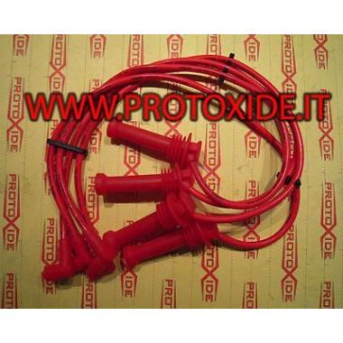Cavi candela alta conducibilità rossi per Lancia Delta 2000 HPE 16V Turbo Cavi Candela specifici x auto