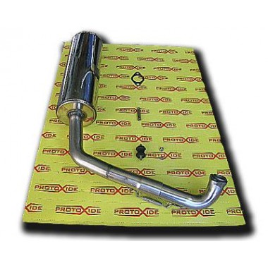 Stainless exhaust for BugRider 250 Exhaust mufflers and tip terminals