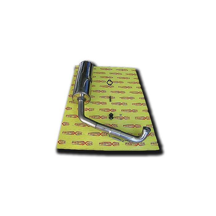 Rustfri udstødning til BugRider 250 Udstødningslygter og klemmer