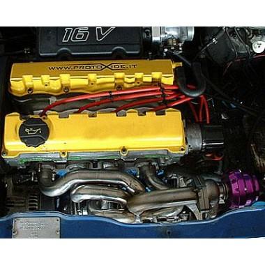 Πολλαπλή εξαγωγής Peugeot 106 1.6 16V Turbo x εξωτερική wastegate Χαλύβδιες πολλαπλές μηχανές για βενζινοκινητήρες Turbo