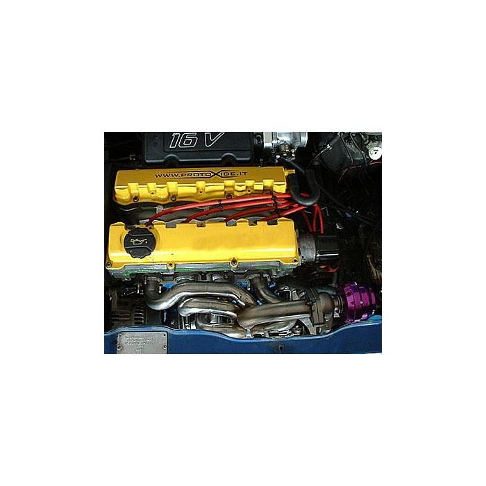 Collettore scarico Peugeot 106 1.6 16V Turbo x wastegate esterna Ocelové rozdělovače pro turbodieselové motory