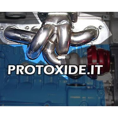 Collettore scarico acciaio trasformazione turbo Renault Clio 1.8-2.0 16v con att.wastegate esterna