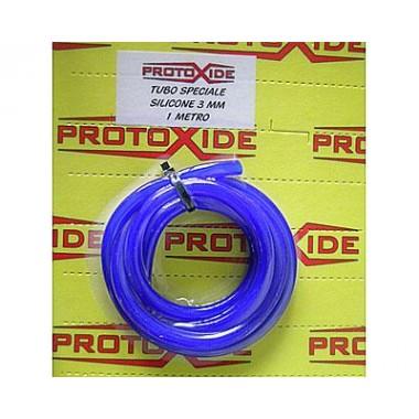 Blå silikone tube 4 mm Lige silikone slange ærmer