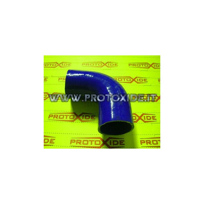 90 ° elbow silicone 54mm Reinforced silicone elbow