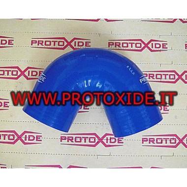 45 ° Bend silikona 60mm Pastiprināts silikona līknes