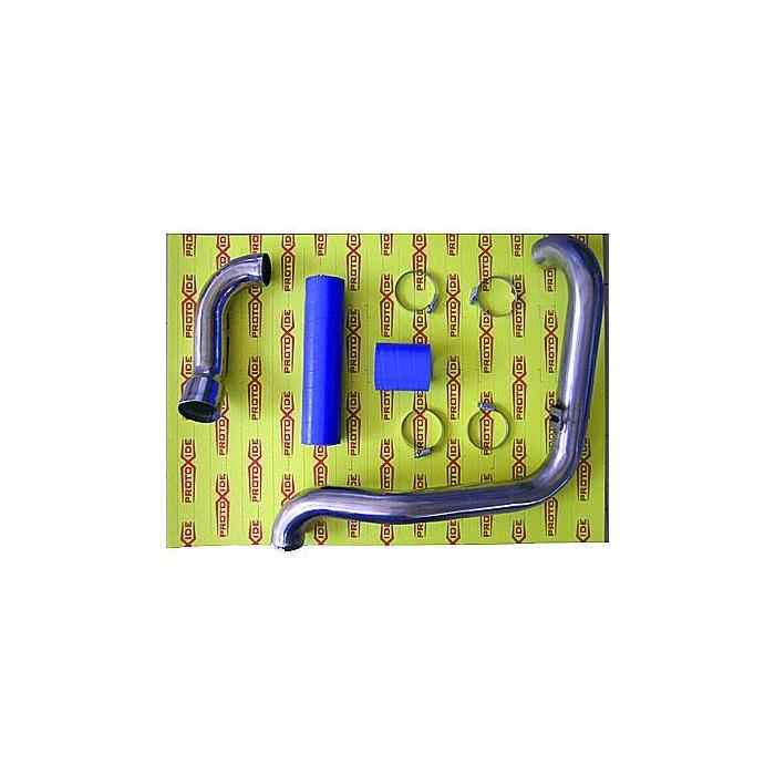 Acier manches Fiat Punto GT avec des raccords en silicone bleu Manches spécifiques pour voitures