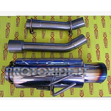 Marmitta scarico finale per Fiat Punto Gt in acciaio inox Marmitte e terminali di scarico