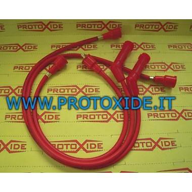 Cables de bujía rojos para viejos Fiat 500 de alta conductividad 8.8mm Cables de vela específicos para automóviles