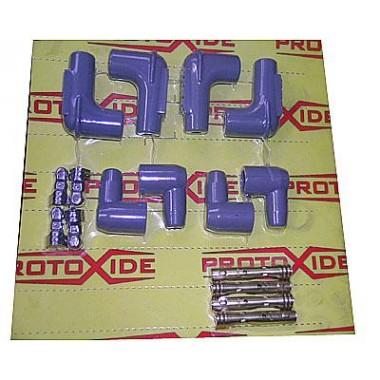 Conjunto de tapas y terminales para el kit 2 cables de bujías Candle cable y bricolaje terminales