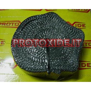 Vendaje para colector y silenciador NEGRO 4.5mx 5cm Bendas de protección contra calor