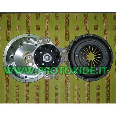 Schwungrad Kupplung Kit + Kupfer + Aluminium-Druckplatte Fiat Punto GT Stahlschwungradsatz komplett mit verstärkter Kupplung