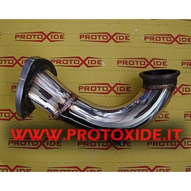 Uitlaat downpipe voor Grande Punto 1.9 Mjet 120-130pk Downpipe Turbo Diesel and Tubes eliminates FAP