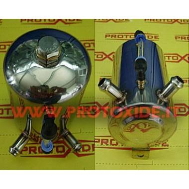 Rezervuārs ar līmeņrādi ar 2 caurulēm Pirtis eļļas un degvielas tvertnēm