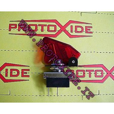 スイッチタイプミリタリーRED TRANSPARENT スイッチやボタン