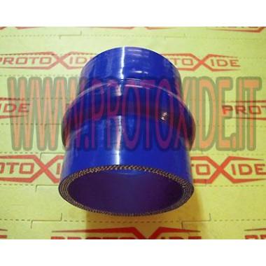 Fuelles de 60 mm en silicona azul Mangas de manguera de silicona recta