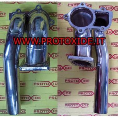 ギャレットGT30内部ウエストゲート用ランチアデルタの排気縦樋 Downpipe for gasoline engine turbo